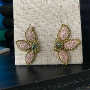 {Stella & Dot} Pave petal earrings.